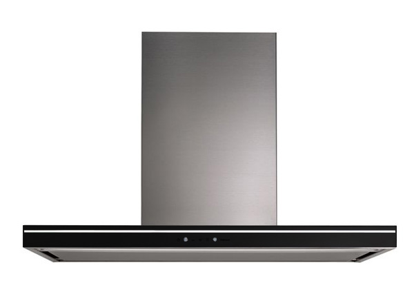 falmec hotte murale lumina nrs 90 cm lunette noire acier inox verre. Black Bedroom Furniture Sets. Home Design Ideas