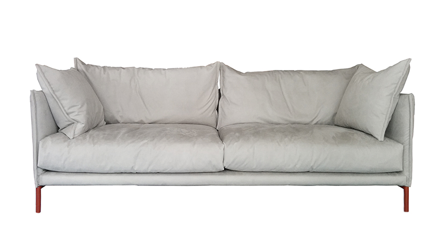 Moroso divano a 2 posti gentry major 240x90 cm grigio - Divano grigio perla ...