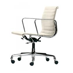 vitra office chair with medium high backrests aluminium chair ea 117 black hopsak and chromed. Black Bedroom Furniture Sets. Home Design Ideas
