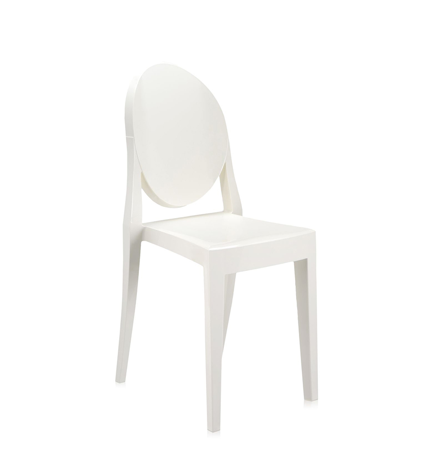 kartell sedia victoria ghost bianco policarbonato colorato in massa. Black Bedroom Furniture Sets. Home Design Ideas