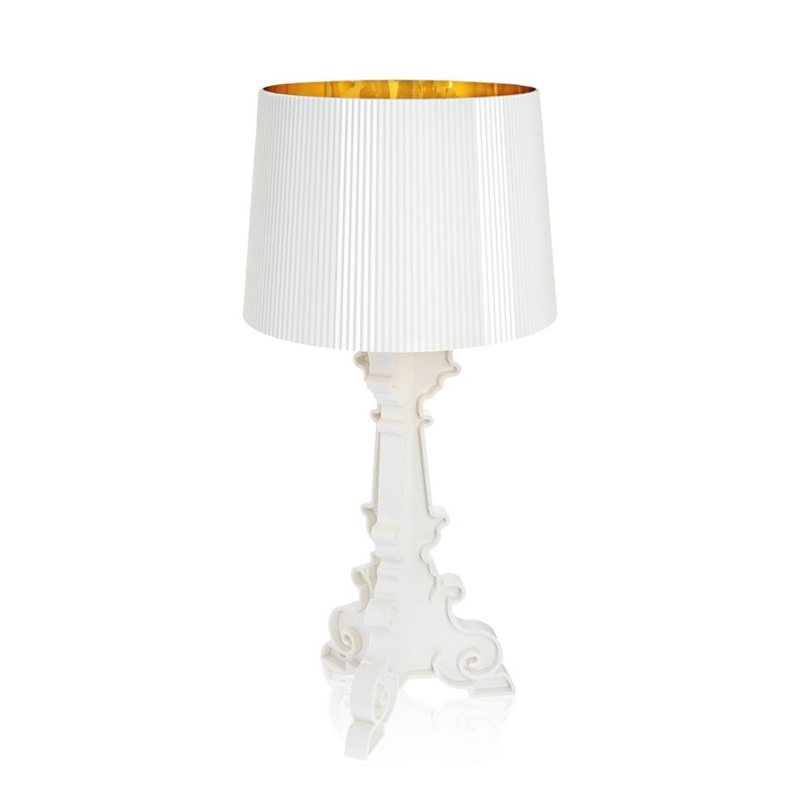 Kartell lampada da tavolo bourgie bianco oro for Lampada kartell prezzo