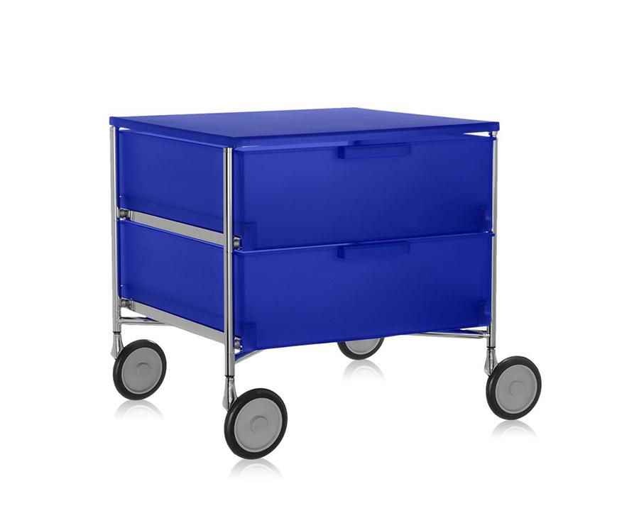 Kartell mobile con ruote a 2 cassetti mobil for Mobile con ruote
