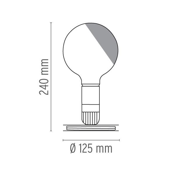 flos lampadina misure