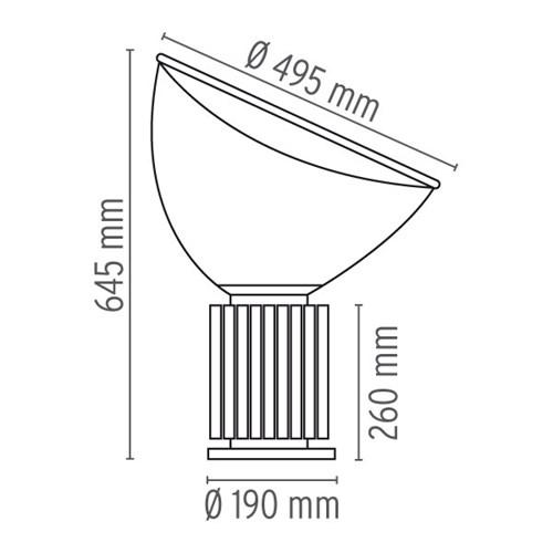 flos taccia sizes