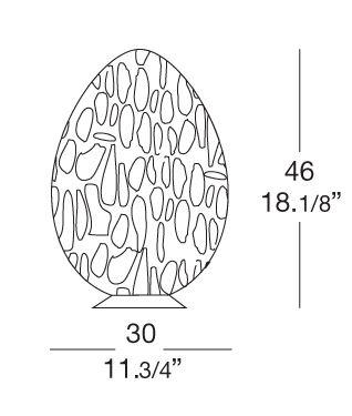 Leucos Uovo 46 misure