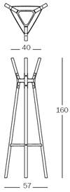 magis steelwood coat stand misure