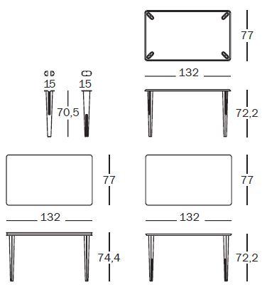 magis steelwood stool misure