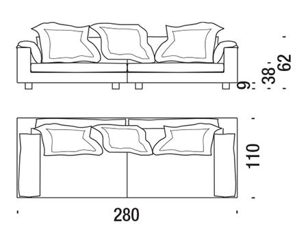 moroso nebula nine sofa sizes