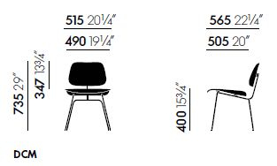 vitra plywood dcm sizes