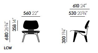vitra plywood lcw sizes