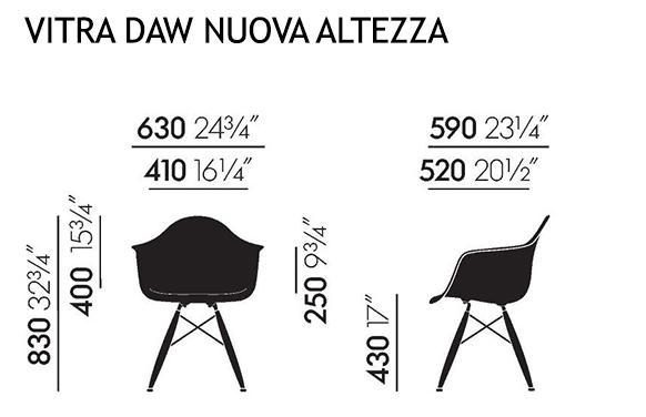 Vitra sedia poltroncina con cuscino e basamento nero eames - Sedia eames originale ...