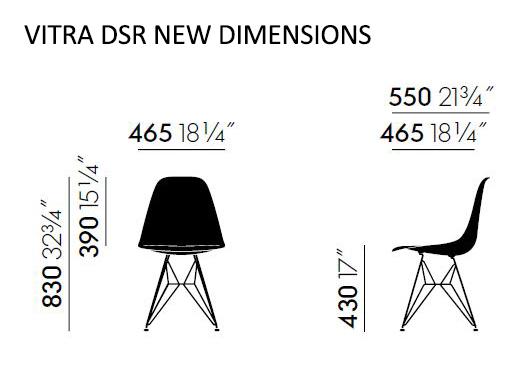 Vitra DSR Nuove dimensioni