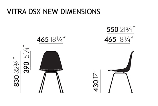 Vitra DSX Nuove dimensioni