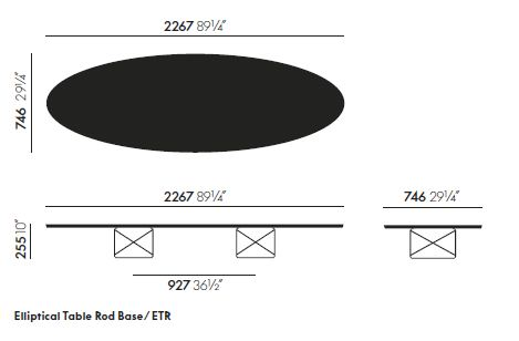 vitra elliptical table etr sizes