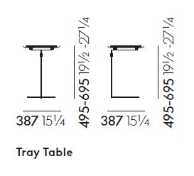 vitra tray table sizes