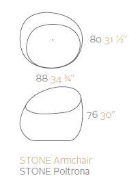 vondom stones poltrona sizes
