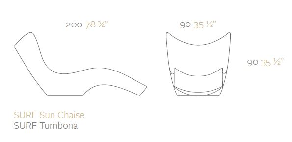 vondom surf sizes