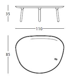 zanotta tavolino ninfea