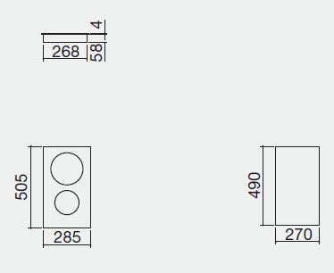 piano cottura 1PI30IDN misure