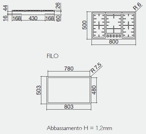Barazza piano cottura officina 1pof80 for Piani di officina distaccati