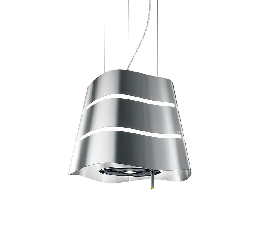 top dunstabzugshaube inselhaube elica wave 51 cm rund ebay. Black Bedroom Furniture Sets. Home Design Ideas