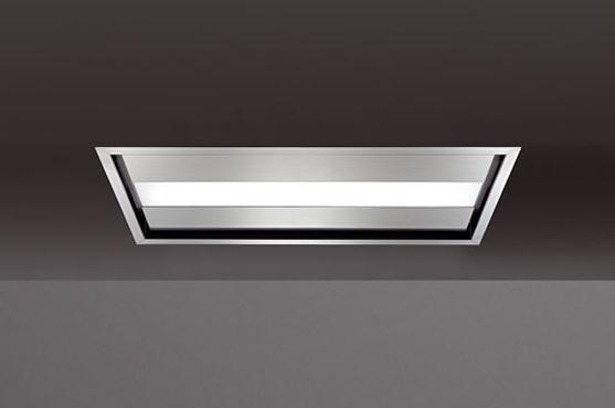 Falmec design nuvola cappa da soffitto inox 90 cm for Cappa virgola falmec
