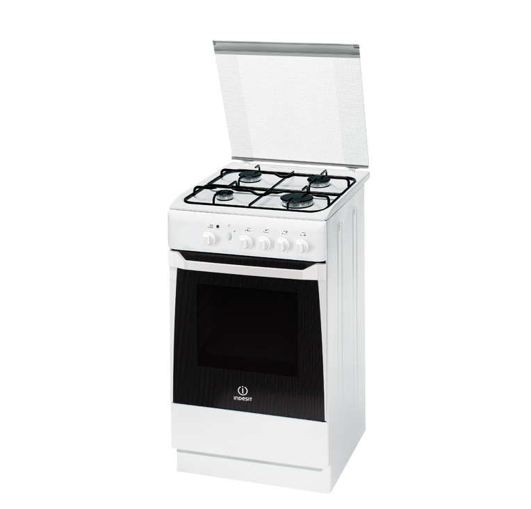 Indesit cucina a gas kn1g2sw i 50x50 cm forno piano for Piano cottura cucina