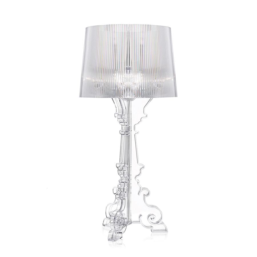lampe bourgie kartell by ferruccio laviani transparent or noir. Black Bedroom Furniture Sets. Home Design Ideas