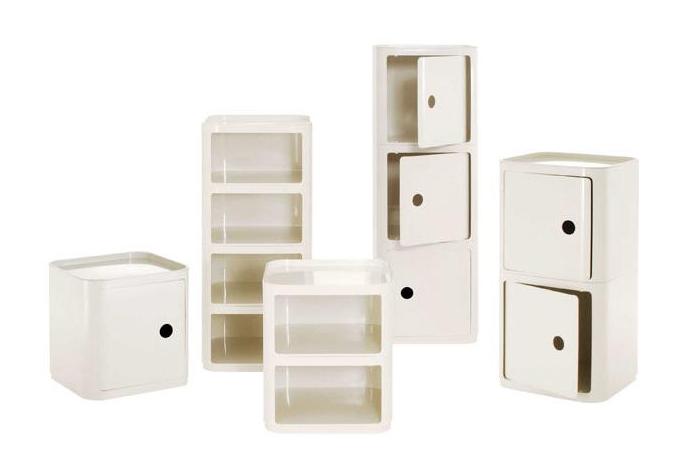 Kartell comodini componibili singoli elementi quadrati e - Contenitori bagno kartell ...