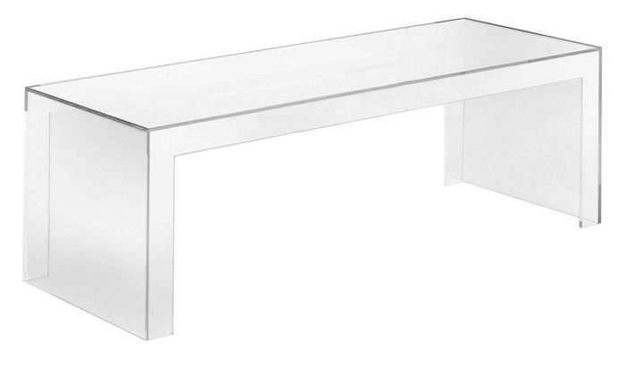 Invisible Side Kartell Table Basse Rectangulaire Noir 1 1