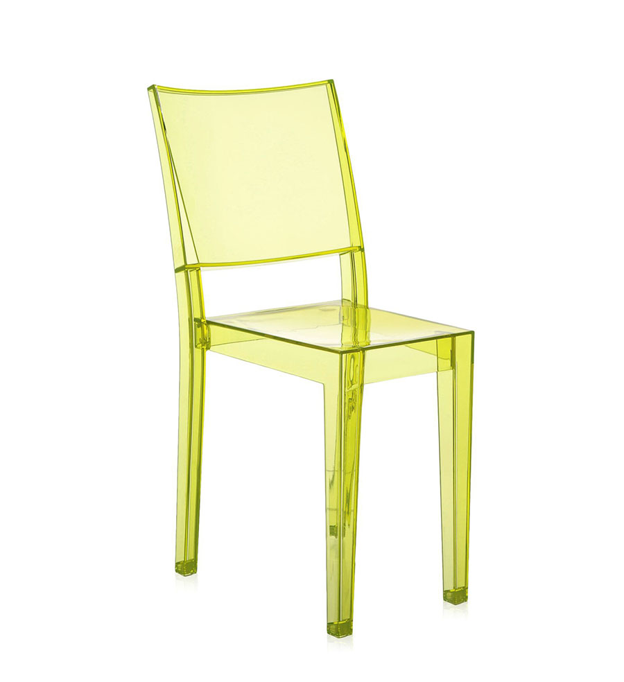 Kartell 4 sedie la marie ghost giallo chiaro by philippe for Sedia kartell la marie