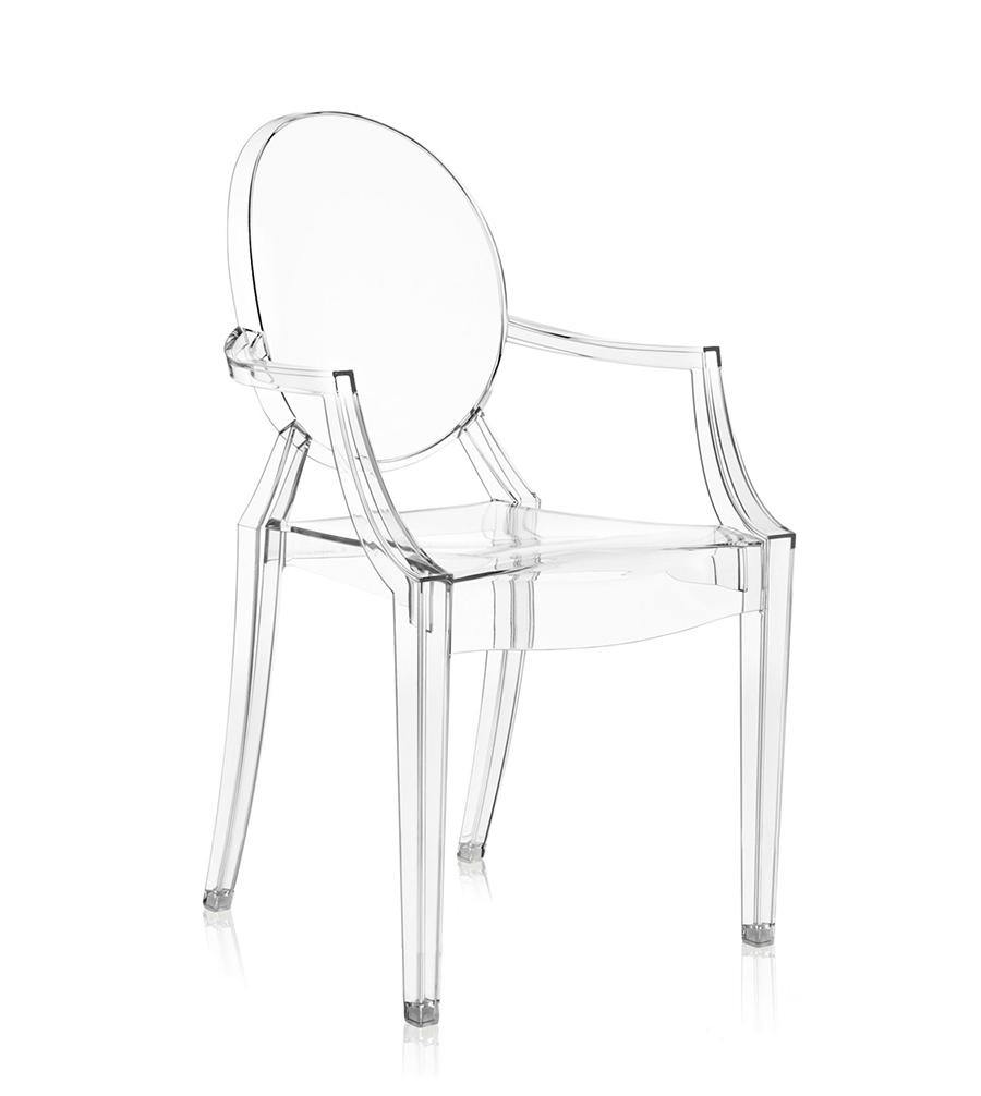 Kartell 1 sedia poltroncina louis ghost trasparente design - Sedia trasparente kartell ...