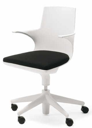 Kartell Spoon Chair Sedia Da Ufficio Con Ruote Chaise Ebay