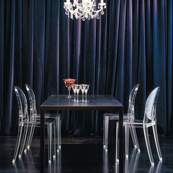 kartell 4 chaises victoria ghost transparent fauteuil ebay. Black Bedroom Furniture Sets. Home Design Ideas
