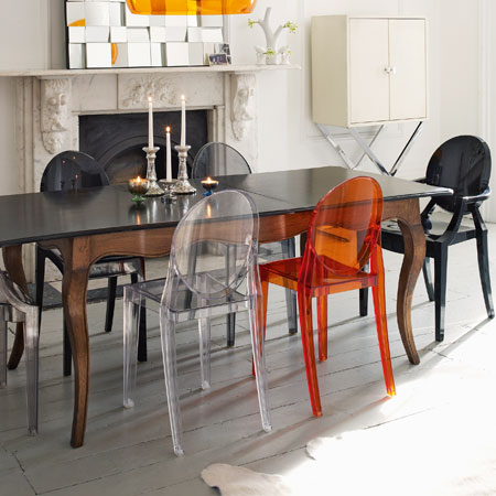 kartell 6 sedie victoria ghost trasparenti philippe starck ebay. Black Bedroom Furniture Sets. Home Design Ideas