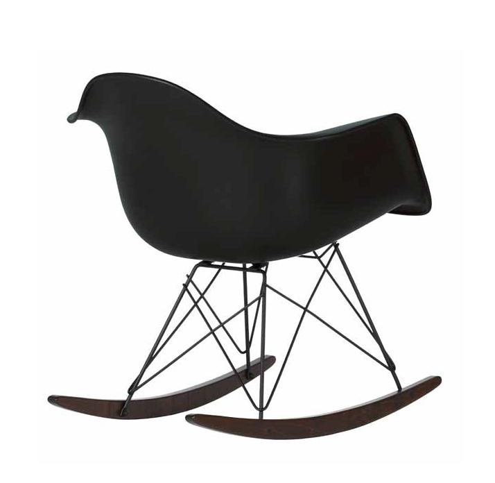 vitra sedia dondolo eames plastic armchair rar special edition black collection ebay. Black Bedroom Furniture Sets. Home Design Ideas