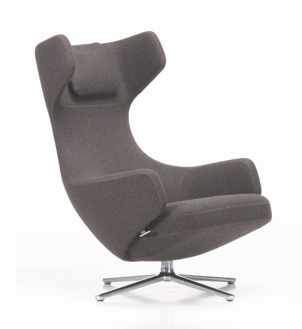vitra fauteuil pivotant grand repos fossile h assise 41 cm tissu cosy. Black Bedroom Furniture Sets. Home Design Ideas