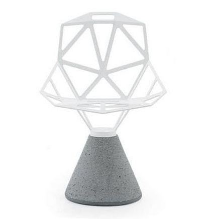 ONEBlanc chaise MAGIS CHAIR base et avec cemento aluminium ynv0OmN8w