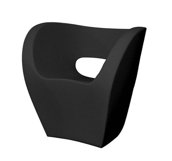 Poltrona Little Albert Moroso.Moroso Armchair Little Albert Black Polyethylene