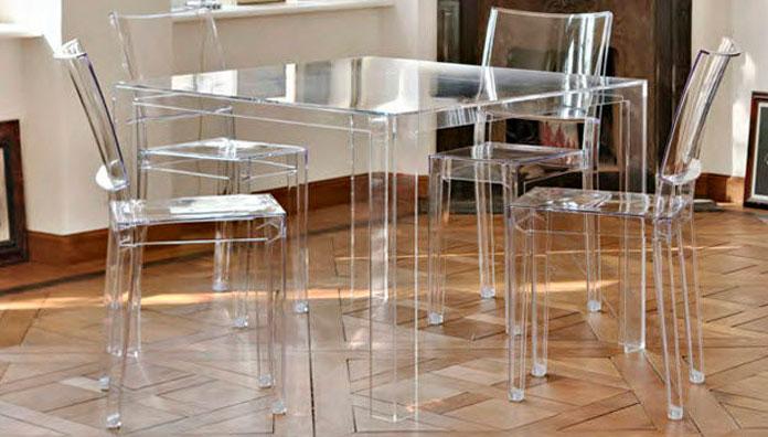 Kartell Tavolo Invisible Table Cristallo Pmma Trasparente Myareadesign It