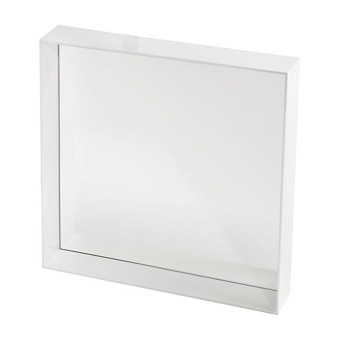 Kartell specchio da parete only me 50x50 cm bianco lucido for Specchio da parete 180 cm