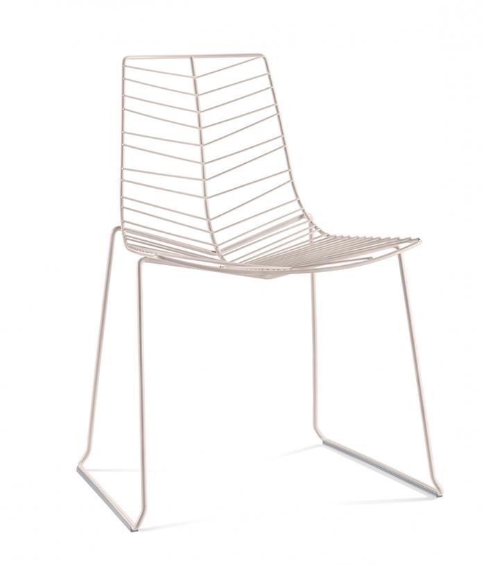 ARPER set da 4 sedie con slitta LEAF 1801