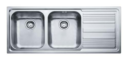 FRANKE lavello a 2 vasche + gocciolatoio LOGICA LINE LLX 621