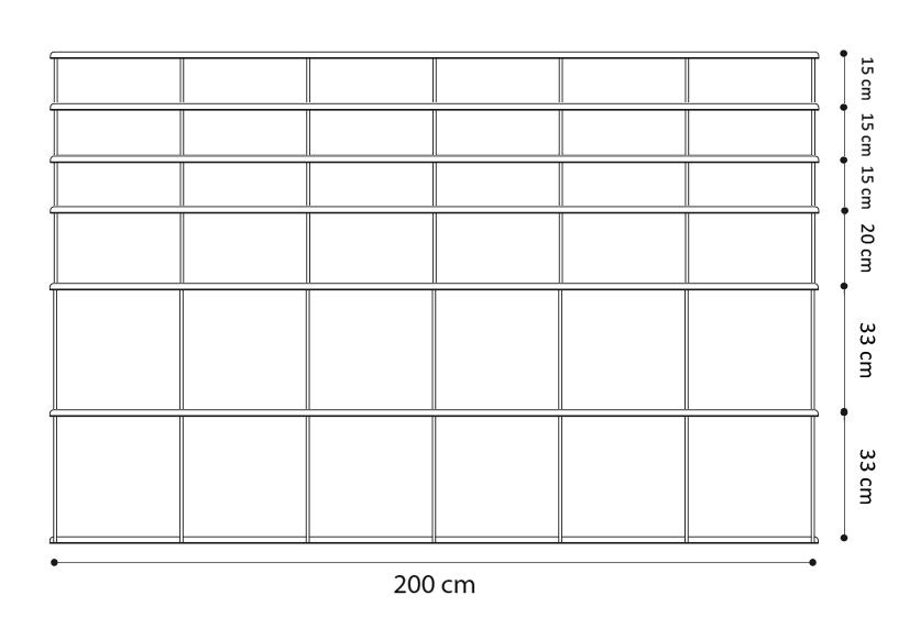 Kriptonite Bibliotheque Murale Krossing 2 Blanc 200 X 131 Cm Myareadesign It