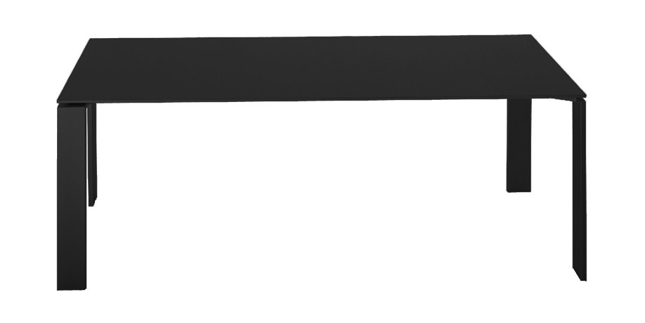 Gambe Tavolo In Acciaio.Kartell Tavolo Four Dim 190x72x79 Piano Nero Gambe Nero Piano