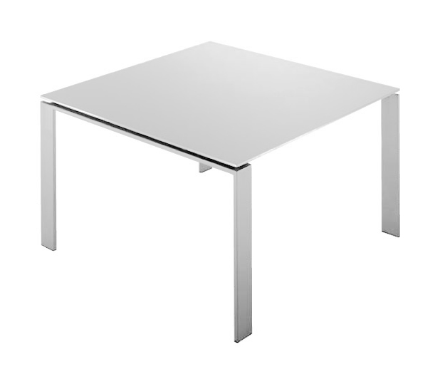 Kartell table four dim 128x72x128 plateau blanc pieds for Table exterieur kartell