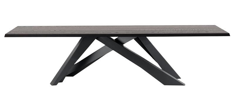 BONALDO BIG TABLE (Anthracite grey 250 cm - Solid american walnut ...