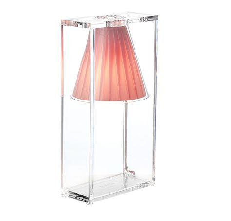 Kartell lampada da tavolo light air rosa tecnopolimero for Lampada kartell prezzo