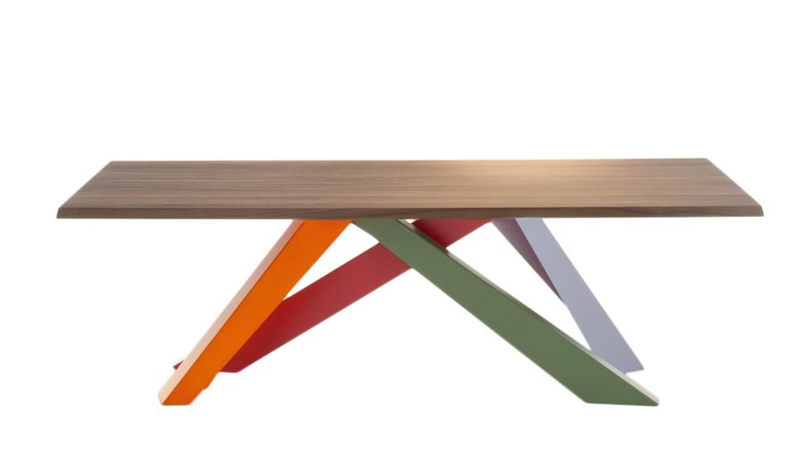BONALDO tavolo BIG TABLE (Rosso corallo/Arancio/Verde/Lilla 200 cm ...