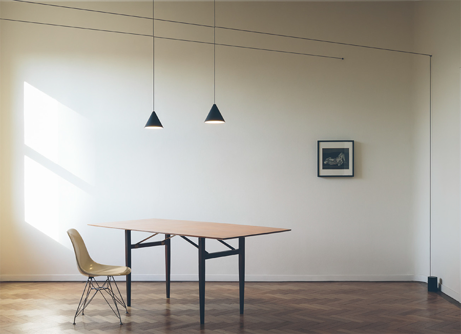 flos lampada a sospensione string light cono 22 metri con floor switch. Black Bedroom Furniture Sets. Home Design Ideas